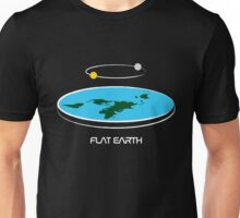 Flat Earth Theory Diagram Unisex T-Shirt