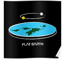 Flat Earth Theory Diagram Poster