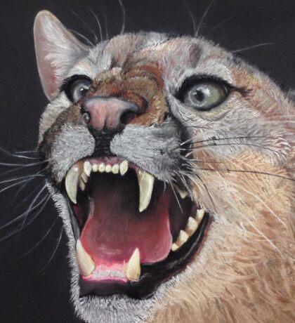 Mountain Lion w/ Teeth (Bubble Boy) Sticker