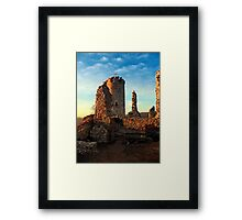 The ruins of Waxenberg castle | architectural photography Framed Print