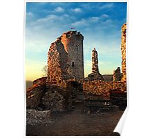 The ruins of Waxenberg castle | architectural photography Poster