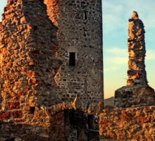 The ruins of Waxenberg castle | architectural photography Sticker