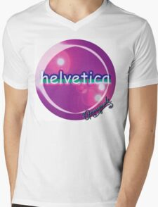 helvetica sample for cool designers Mens V-Neck T-Shirt