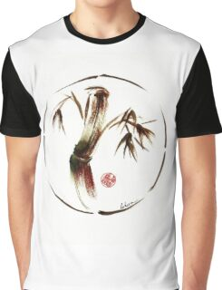 """eternity"" :  Enso sumi-e dry brush acrylic painting   Graphic T-Shirt"