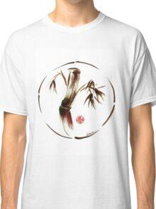 """eternity"" :  Enso sumi-e dry brush acrylic painting   Classic T-Shirt"