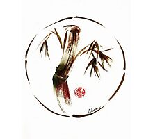 """eternity"" :  Enso sumi-e dry brush acrylic painting   Photographic Print"