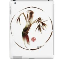 """eternity"" :  Enso sumi-e dry brush acrylic painting   iPad Case/Skin"