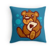 Teddy and Ace Throw Pillow
