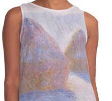 Haystacks, Effect of Snow and Sun by Claude Monet Contrast Tank