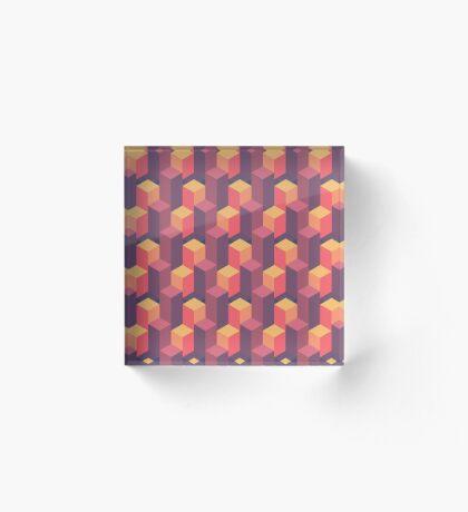 Sunset Isometric Acrylic Block