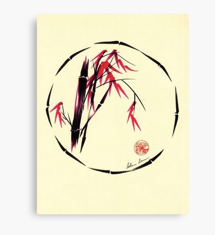 Forgive - Enso bamboo brush painting Canvas Print