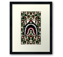 BAPE SHARK WOODLAND Framed Print