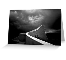 Vietnam War Memorial in Black & White Greeting Card