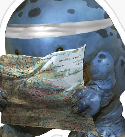Map Quaggan Sticker