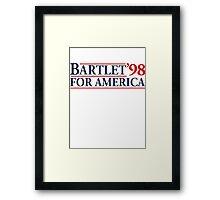Bartlet for America Slogan Framed Print