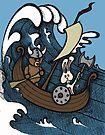 Teddy Bear And Bunny - Rape And Pillage  by Brett Gilbert