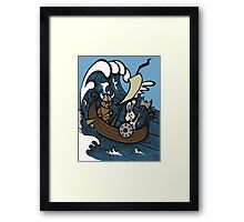 Teddy Bear And Bunny - Rape And Pillage  Framed Print