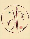 Sacred Circle - Original Enso Zen Painting by Rebecca Rees