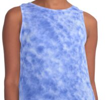 Dreamy Blue and White Cloudscape Contrast Tank