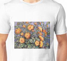 "Evening sunshine (marigolds). Oil on linen on board 16x14"" Unisex T-Shirt"