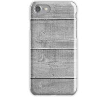 Board marked concrete, horizontal texture iPhone Case/Skin