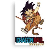 Son Goku & Nyoi Bo Canvas Print