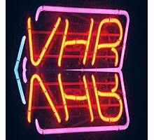 VHR Tanning Neon Sign Pattern Photographic Print