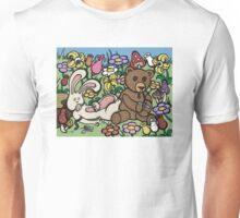 Teddy Bear And Bunny - Chasing The Dragon Unisex T-Shirt