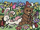 Teddy Bear And Bunny - Chasing The Dragon by Brett Gilbert