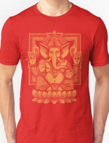 Ganesh Yellow Halftone T-Shirt
