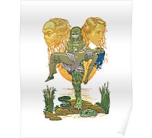 She Creature from the Black Lagoon twins Poster