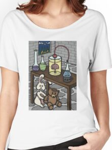 Teddy Bear and Bunny - The Rescue Came Too Late Women's Relaxed Fit T-Shirt