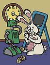 Teddy Bear And Bunny - It's All Fun And Games by Brett Gilbert