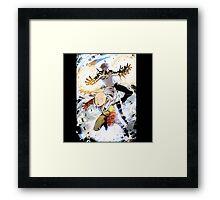 One Punch Man Saitama And Genos Framed Print