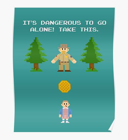 It's Dangerous To Go Alone! (Take Waffles) Poster