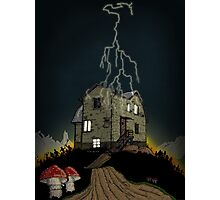 House on a haunted hill Photographic Print