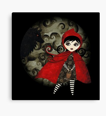 Little Red Capuccine Canvas Print