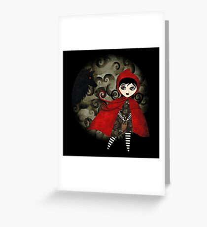 Little Red Capuccine Greeting Card