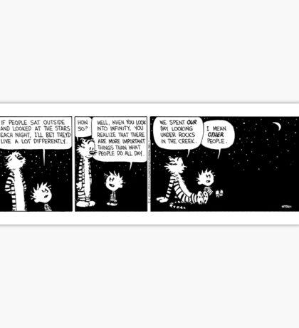 Calvin and Hobbes sticker Sticker