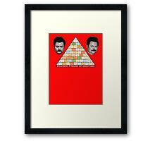 Ron Swanson Pyramid Of Greatness Framed Print