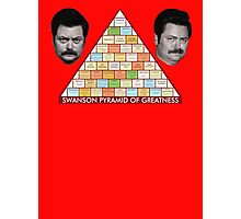 Ron Swanson Pyramid Of Greatness Photographic Print