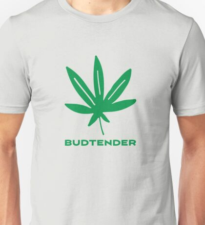 Budtender Weed Leaf 420 Go Green Unisex T-Shirt