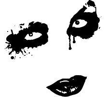 unheimliches Graffiti Gesicht Photographic Print