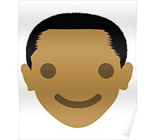 "Barack ""The Emoji"" Obama Happy Smiling Face Poster"