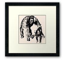 vector monkey Framed Print