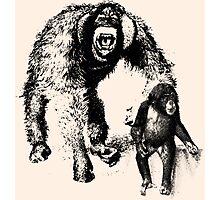 vector monkey Photographic Print