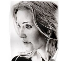 Gillian Anderson charcoal Poster