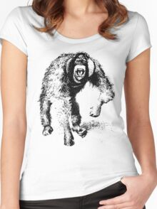 vector monkey Women's Fitted Scoop T-Shirt