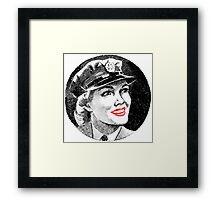 WW2 Army Girl 2 Framed Print