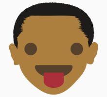 "Barack ""The Emoji"" Obama Tongue Out Kids Tee"